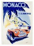 Monaco Grand Prix, c.1952 Giclée-Druck