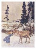 Christmas Reindeer Giclee Print