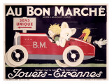 Childrens au Bon Marche Roadster Giclee Print