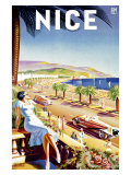 Nice, Riviera Beach Resort Giclee Print by D'hey