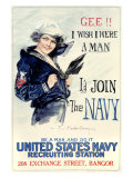 WWII, U.S. Navy, I Wish I Were a Man Giclee Print