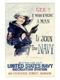 WWII, U.S. Navy, I Wish I Were a Man Giclee Print