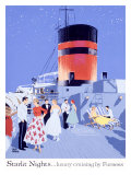 Starlit Nights, Luxury Cruises by Fumess Giclee Print by Adolph Treidler