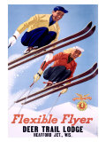 Deer Lodge Flexible Flyer Ski, c.1954 Giclee Print by Sasha Mauer