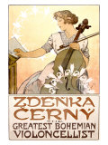 Zdenka Cerny Cello Concert Giclee Print by Alphonse Mucha