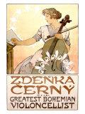 Zdenka Cerny Cello Concert Giclee Print by Alphonse Mucha