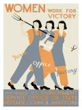WWII, Womens Victory Homefront Giclee Print