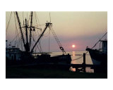 Shrimpboat Sunrise Photographic Print by Larry L. Weingartner