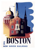 Boston, Massachusetts, New Haven Railroad Giclee Print by Ben Nason