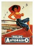 Philips Autoradio - Giclee Baskı