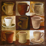 Coffee Cups I Poster by Mary Beth Zeitz