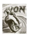 British Motorcycle Avon Tire Reproduction procédé giclée