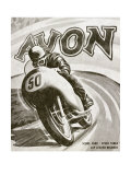 British Motorcycle Avon Tire Giclee Print