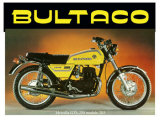 Bultaco Metralla GTS Motorcycle Giclee Print