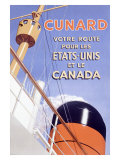 Cunard Line, British French Ocean Lines Giclee Print