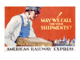 American Railway Express Shipment Giclee Print by Robert Edmund Lee