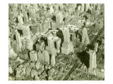 New York City, Skyline and Biplanes Gicl&#233;e-Druck