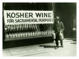 New York City, Kosher Wine Wydruk giclee