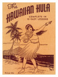Hawaiian Hula Dance Lessons Reproduction procédé giclée