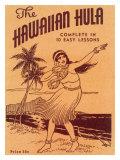 Hawaiian Hula Dance Lessons Giclée-tryk