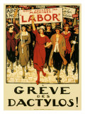 Womens Labor Force, Greve des Dactylos Giclee-vedos