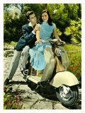 Vespa Piaggio Romance Giclee Print