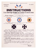 WWI, Aircraft Instruction Giclee-vedos