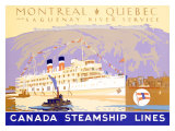 Canada Steamship Lines, Montreal-Quebec Reproduction proc&#233;d&#233; gicl&#233;e