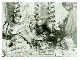 Canton China Opium Den Wydruk giclee