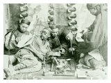 Canton China Opium Den Giclee Print