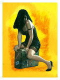 Pin-Up Girl: Suitcase Giclee Print by Richie Fahey