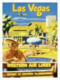 Las Vegas, Western Airlines Giclee Print