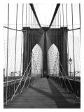 New York, Brooklyn Bridge Cable Reproduction procédé giclée