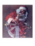 Santa's Finishing Touches Giclee Print