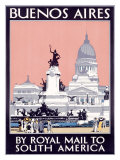 Royal Mail Line, Buenos Aires Reproduction procédé giclée par Kenneth Shoesmith