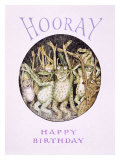 Hooray! Frog's Happy Birthday Giclee Print