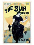 The Sun Sunshine Newspaper Giclee Print by Louis J Rhead