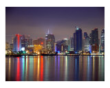 Downtown, San Diego at night 4 Photographic Print by josh hollister