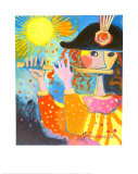 The Flute Player Posters by Rosina Wachtmeister