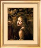 The Virgin of the Rocks (The Virgin with the Infant St. John adoring the Infant Christ Art by  Leonardo da Vinci