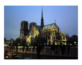 Notre Dame at Night Photographic Print by Donna Corless