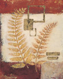 Golden Frond Archive Print by  Regina-Andrew Design