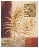 Golden Palm Archive I Print by  Regina-Andrew Design
