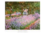 Taiteilijan puutarha Givernyssä, n.1900 Poster tekijänä Claude Monet
