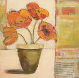 Potted Poppies Art by Claire Lerner