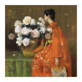 Spring Flowers Kunstdrucke von William Merritt Chase