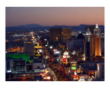 Las Vegas night scene 1 Photographic Print by josh hollister
