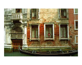 Gondola in Front of House in Venice Photographic Print by Michael Henderson