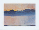 Lake Geneva with Mont Blanc in the Morning Light, c.1918 Affischer av Ferdinand Hodler