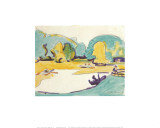 Park Landscape in Dresden, c.1910 Posters by Ernst Ludwig Kirchner